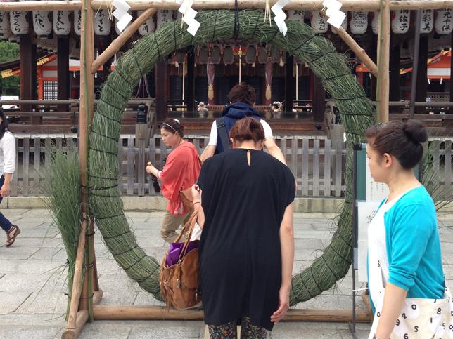 八坂神社の大茅の輪