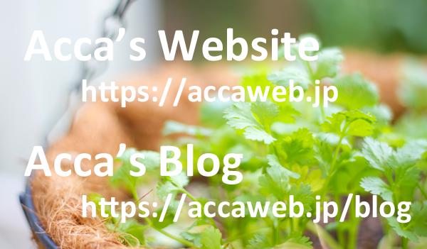 【お知らせ】Webサイト&ブログをリニューアルしました!| Acca's Website